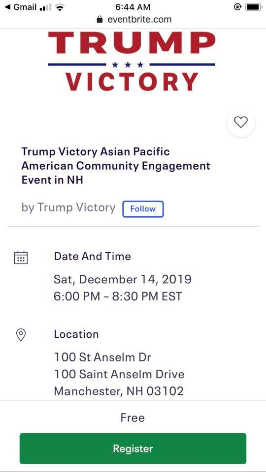 Trump Victory Asian Pacific American Community Engagement